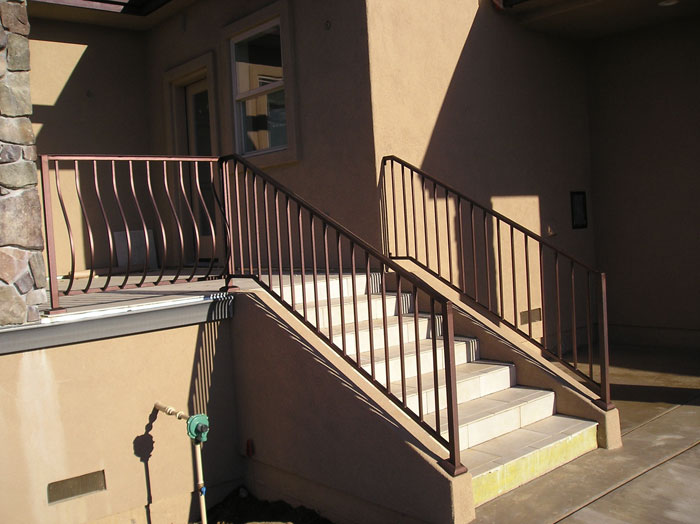 Wrought Iron Stair Railings Malibu